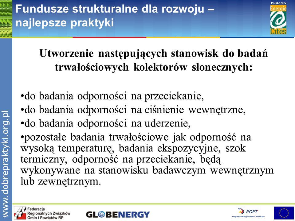 www.pnec.org.pl Polska Sieć www.dobrepraktyki.org.pl Fundusze strukturalne dla rozwoju – najlepsze praktyki Utworzenie następujących stanowisk do bada
