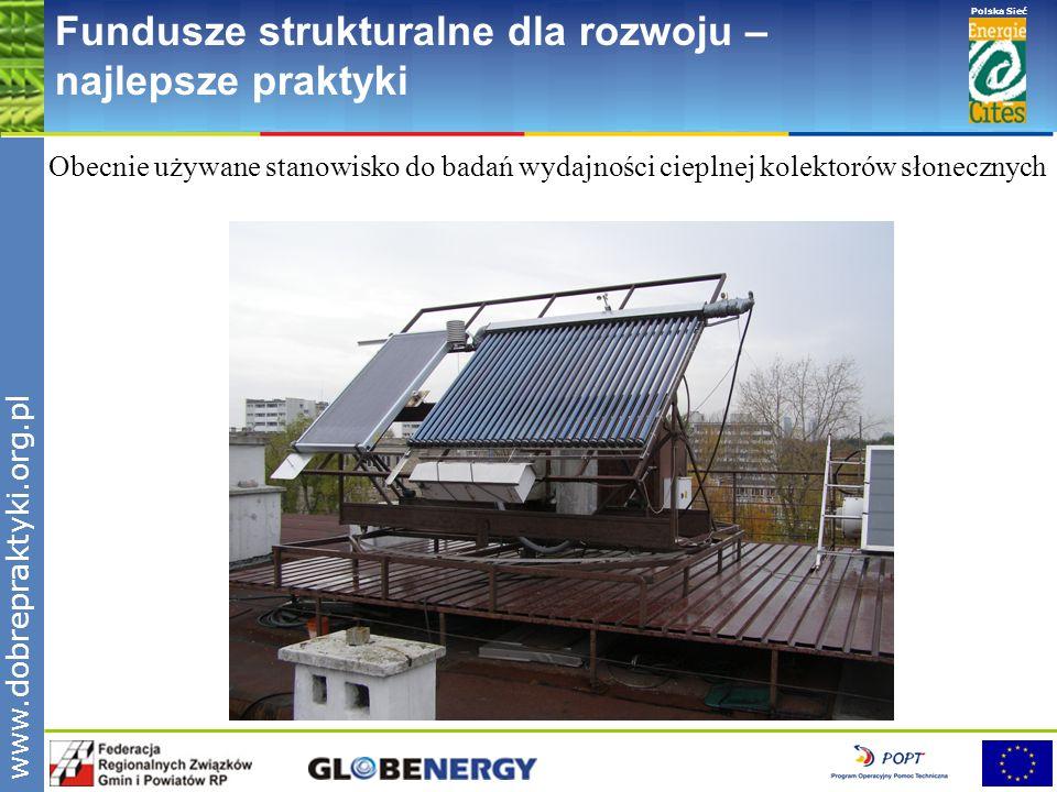 www.pnec.org.pl Polska Sieć www.dobrepraktyki.org.pl Fundusze strukturalne dla rozwoju – najlepsze praktyki Obecnie używane stanowisko do badań wydajn