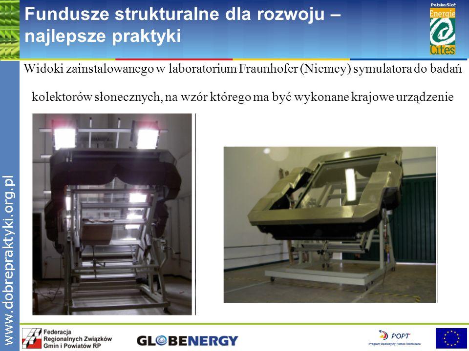 www.pnec.org.pl Polska Sieć www.dobrepraktyki.org.pl Fundusze strukturalne dla rozwoju – najlepsze praktyki Widoki zainstalowanego w laboratorium Frau