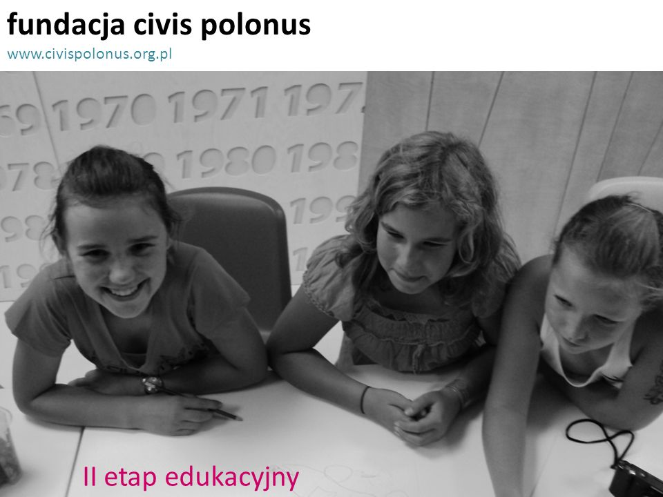 fundacja civis polonus www.civispolonus.org.pl II etap edukacyjny