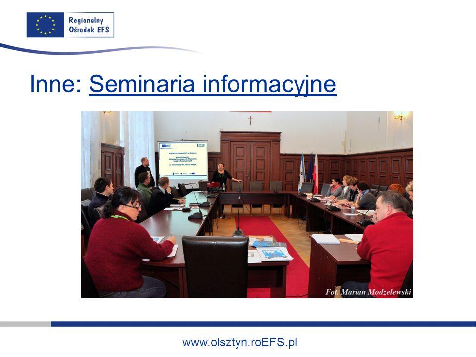www.olsztyn.roEFS.pl Inne: Seminaria informacyjne