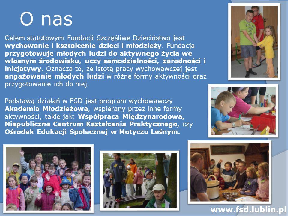 O nas Celem statutowym Fundacji Szczęśliwe Dzieciństwo jest wychowanie i kształcenie dzieci i młodzieży. Fundacja przygotowuje młodych ludzi do aktywn