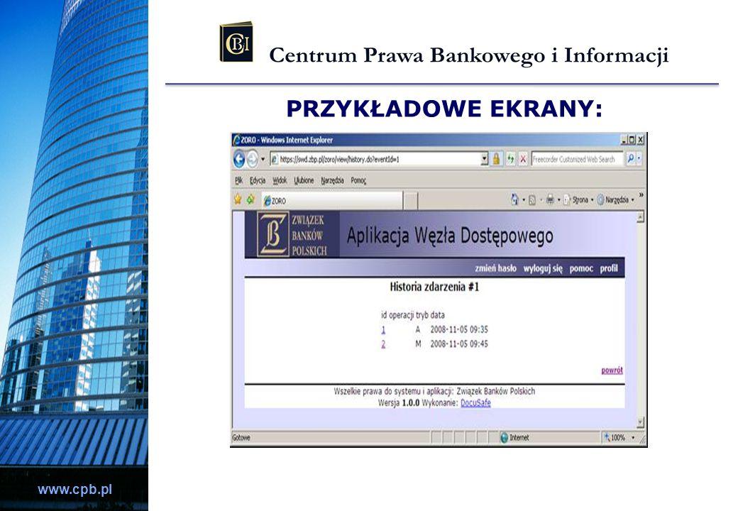 www.cpb.pl PRZYKŁADOWE EKRANY: