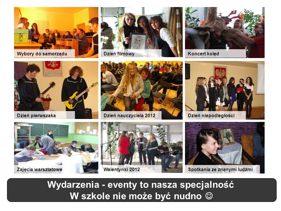Wydarzenia - eventy to nasza specjalność W szkole nie może być nudno Dzień nauczyciela 2012Dzień pierwszakaDzień niepodległości Zajęcia warsztatoweWal