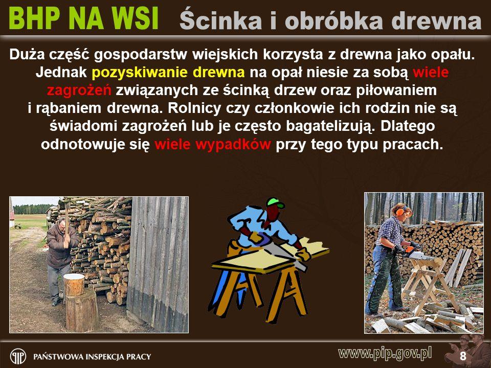 9 Bezpieczeństwo pracy przy pozyskiwaniu drewna opałowego