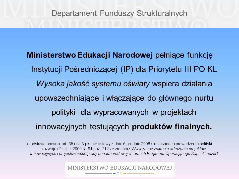 Departament Funduszy Strukturalnych MAPPTIPE Innowacyjne narzędzie do tworzenia multimedialnych materiałów edukacyjnych Cel ogólny: opracowanie uporządkowanego zbioru powszechnie dostępnych, bezpłatnych, multimedialnych materiałów edukacyjnych, zorganizowanych w czytelną strukturę i ujętych w jednolitą strukturę.