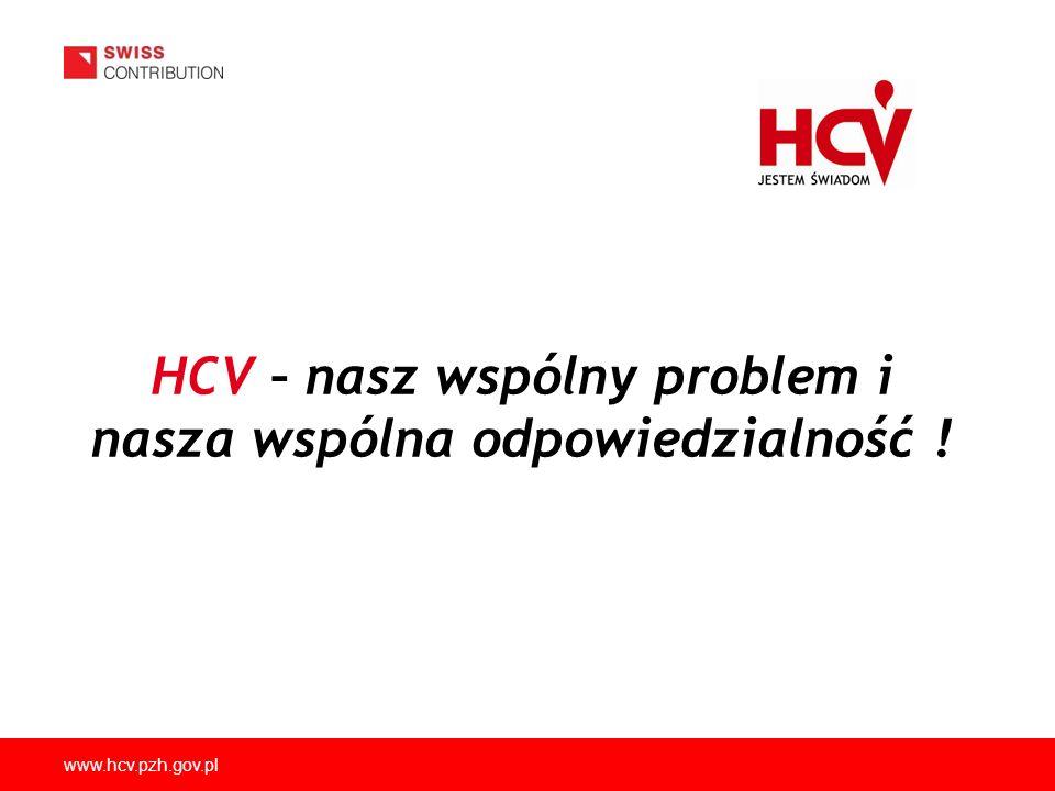www.hcv.pzh.gov.pl HCV – nasz wspólny problem i nasza wspólna odpowiedzialność !