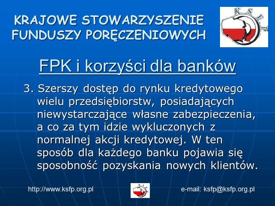 FPK i korzyści dla banków 3.