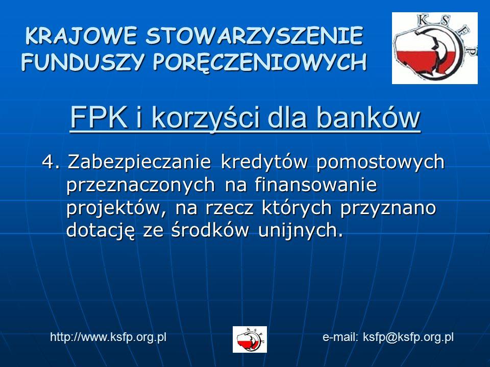 FPK i korzyści dla banków 4.