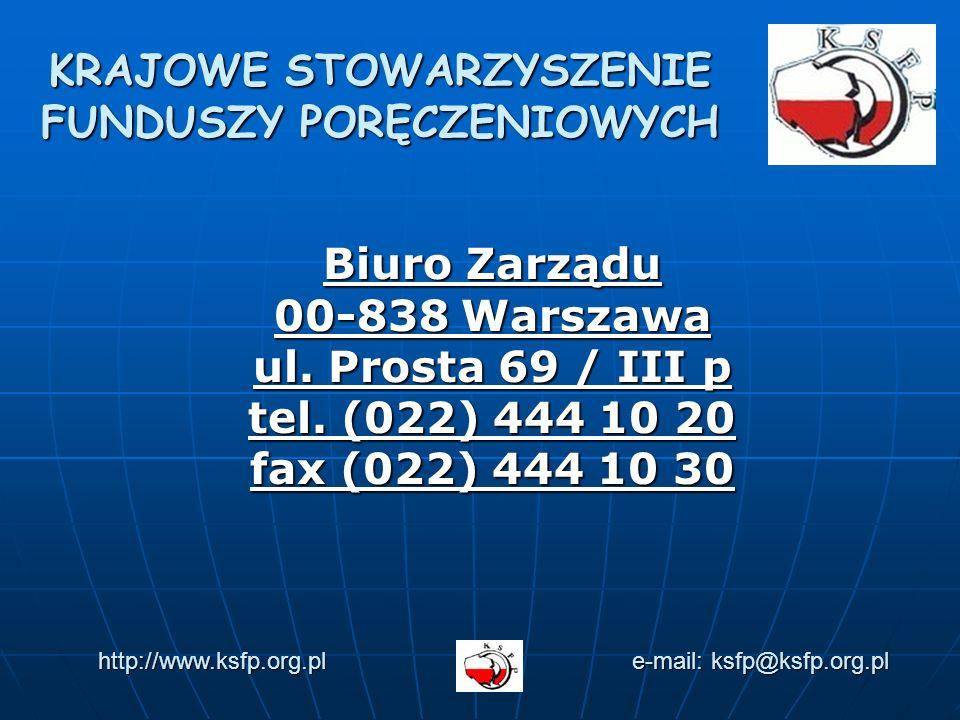 Biuro Zarządu 00-838 Warszawa ul. Prosta 69 / III p tel.