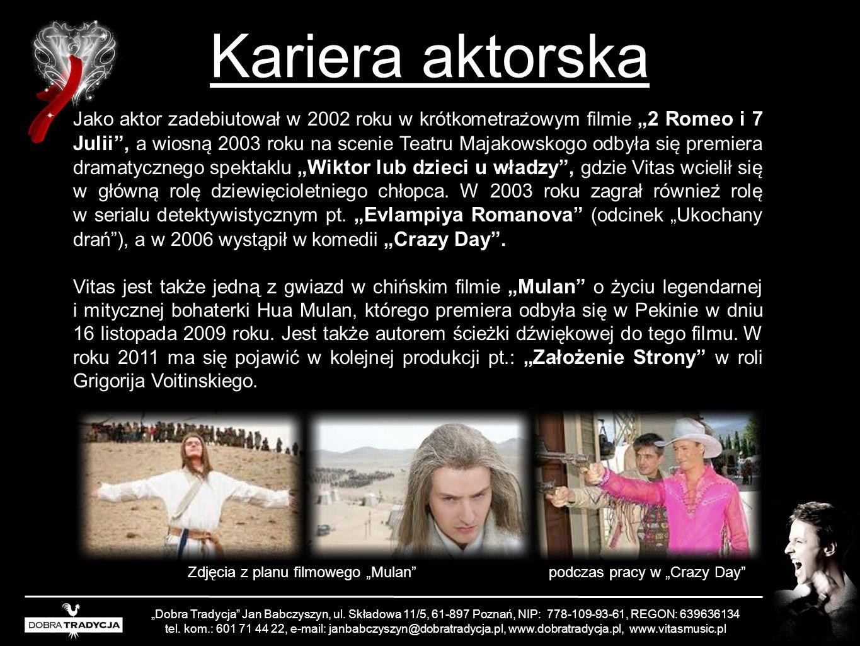 Kariera aktorska Dobra Tradycja Jan Babczyszyn, ul. Składowa 11/5, 61-897 Poznań, NIP: 778-109-93-61, REGON: 639636134 tel. kom.: 601 71 44 22, e-mail