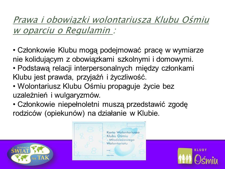 Wychowawca i jednocześnie koordynator prac klubu Szkoli wolontariuszy To nauczyciel, pedagog, psycholog, wychowawca w bursie, a nawet bibliotekarz To osoba odpowiedzialna i świadoma swojej odpowiedzialności www.swiatnatak.pl