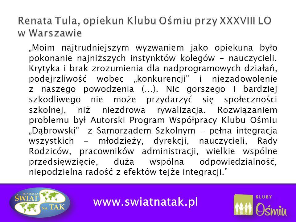 www.swiatnatak.pl Podnoszenie kwalifikacji nauczycieli: Udział w prestiżowym ruchu społecznym.