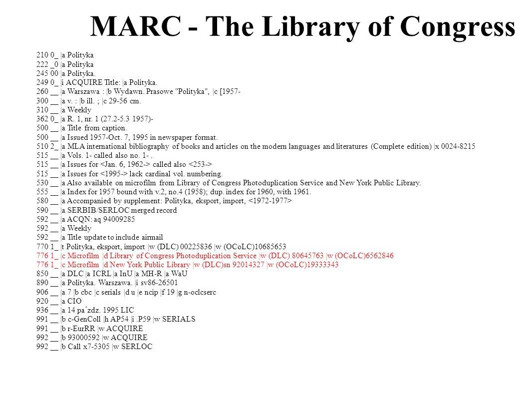 MARC - Biblioteka Jagiellońska 041 0 pol 222 0 Polityka 245 00 Polityka / \c red.