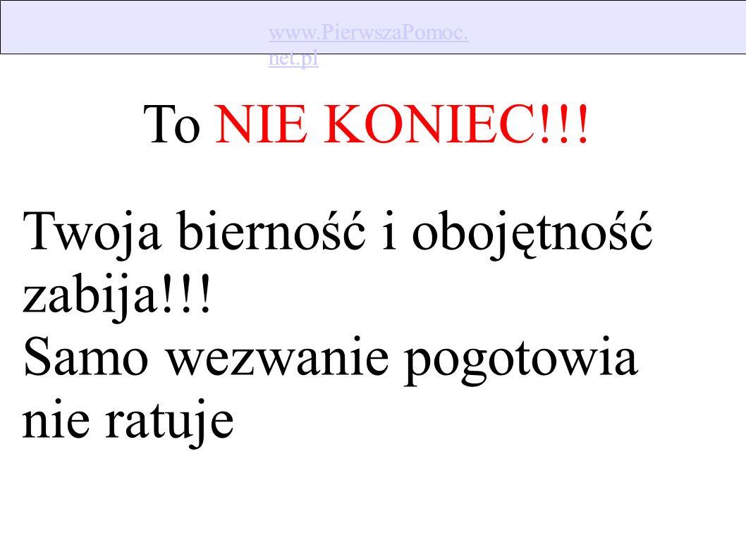 www.PierwszaPomoc. net.pl www.PierwszaPomoc. net.pl Powiedz Gdzie to jest, co się stało UWAGA.