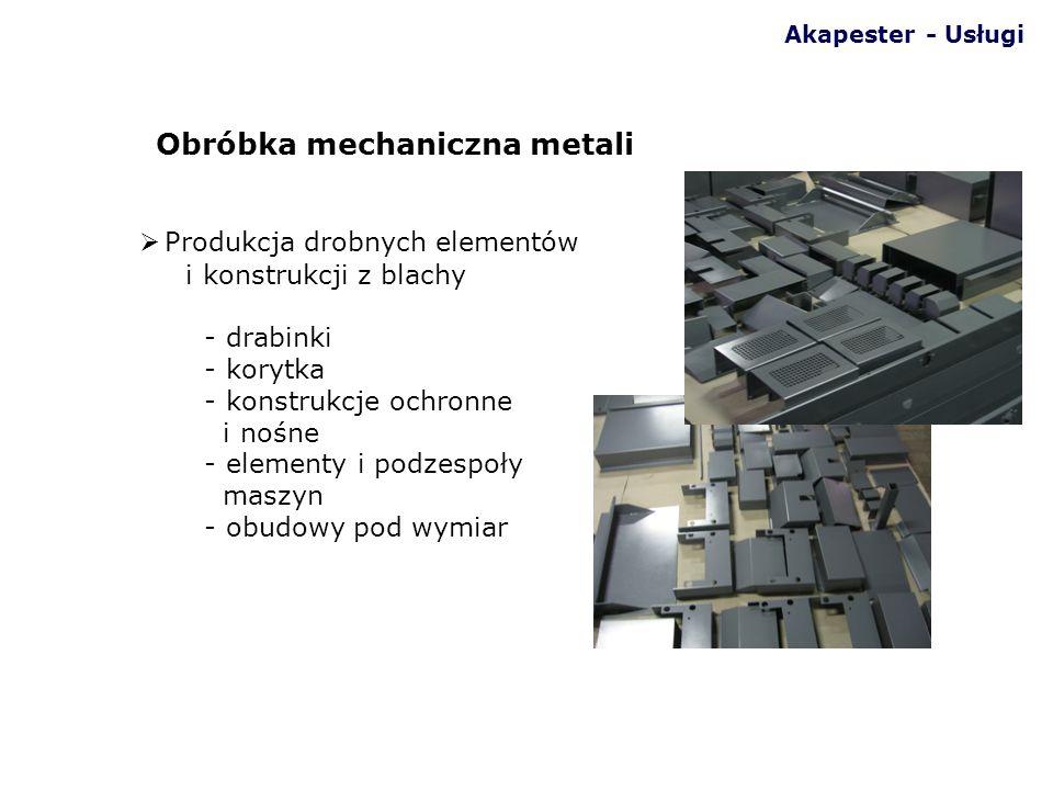 Produkcja drobnych elementów i konstrukcji z blachy - drabinki - korytka - konstrukcje ochronne i nośne - elementy i podzespoły maszyn - obudowy pod w