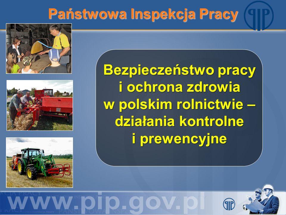 Państwowa Inspekcja Pracy Bezpieczeństwo pracy i ochrona zdrowia w polskim rolnictwie – działania kontrolne i prewencyjne 1
