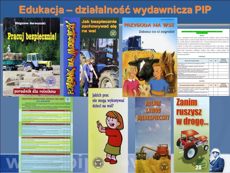Edukacja – działalność wydawnicza PIP 28