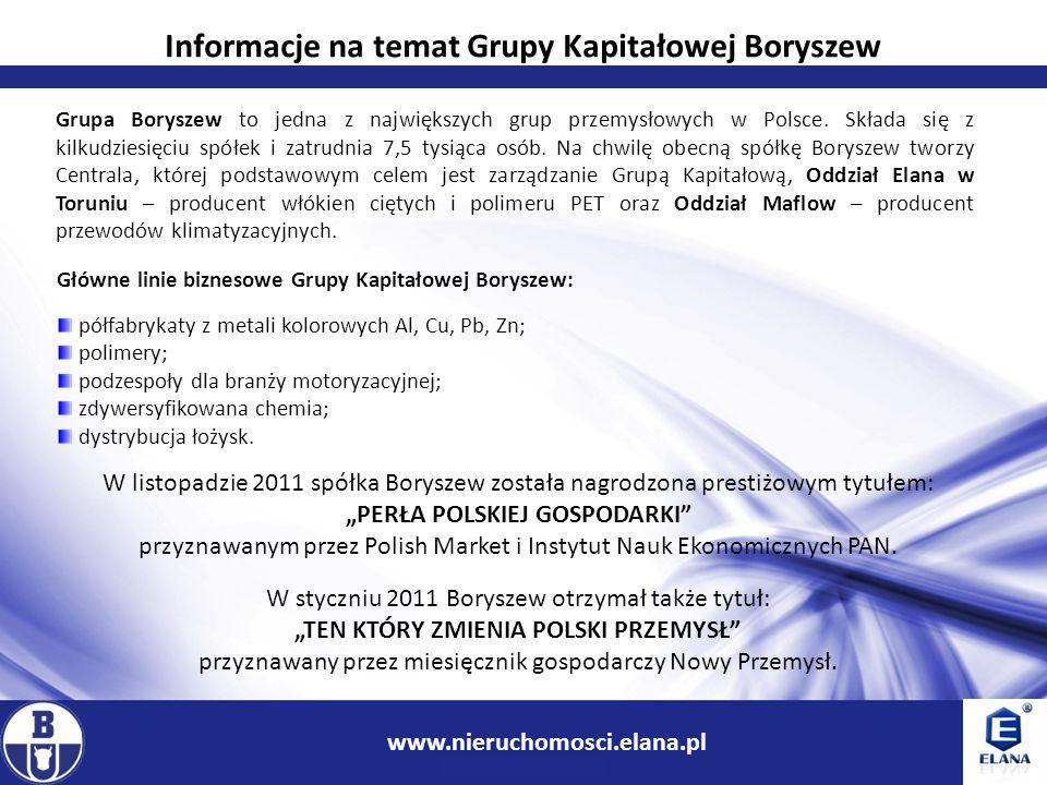 2 www.ir.boryszew.com.pl Informacje na temat Grupy Kapitałowej Boryszew Grupa Boryszew to jedna z największych grup przemysłowych w Polsce. Składa się