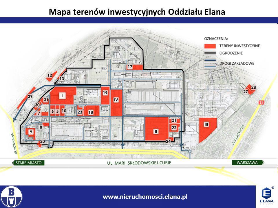6 www.ir.boryszew.com.pl Przykłady terenów inwestycyjnych Oddziału Elana