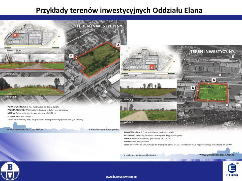 7 www.ir.boryszew.com.pl Oferta obejmuje w pełni uzbrojone, płaskie tereny o powierzchni 35 ha z możliwością wykupu bądź dzierżawy w parcelach od 0,19 ha do 7 ha oraz hale magazynowo-produkcyjne.
