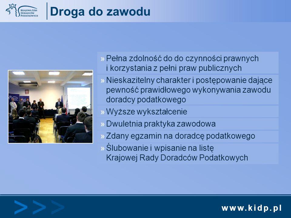 www.kidp.pl >>>>>> Droga do zawodu »Pełna zdolność do do czynności prawnych i korzystania z pełni praw publicznych »Nieskazitelny charakter i postępow