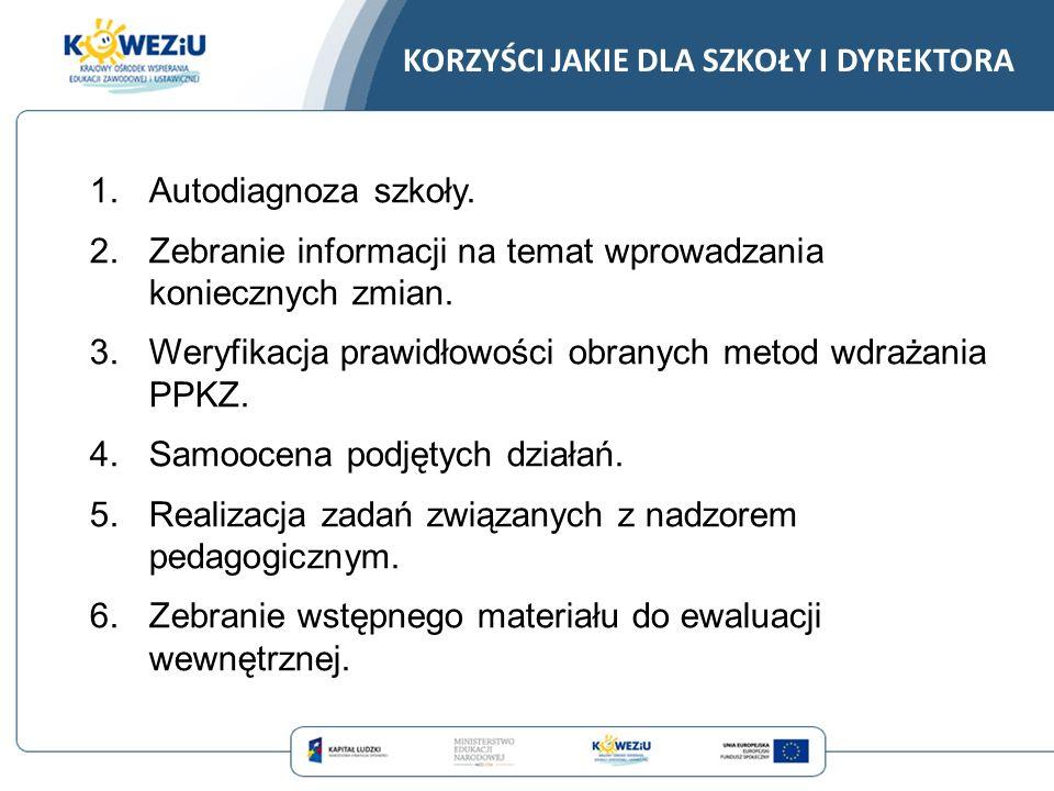 7.Wartość edukacyjna – pytania zwracają uwagę na różne możliwości realizacji wdrażania PPKZ.