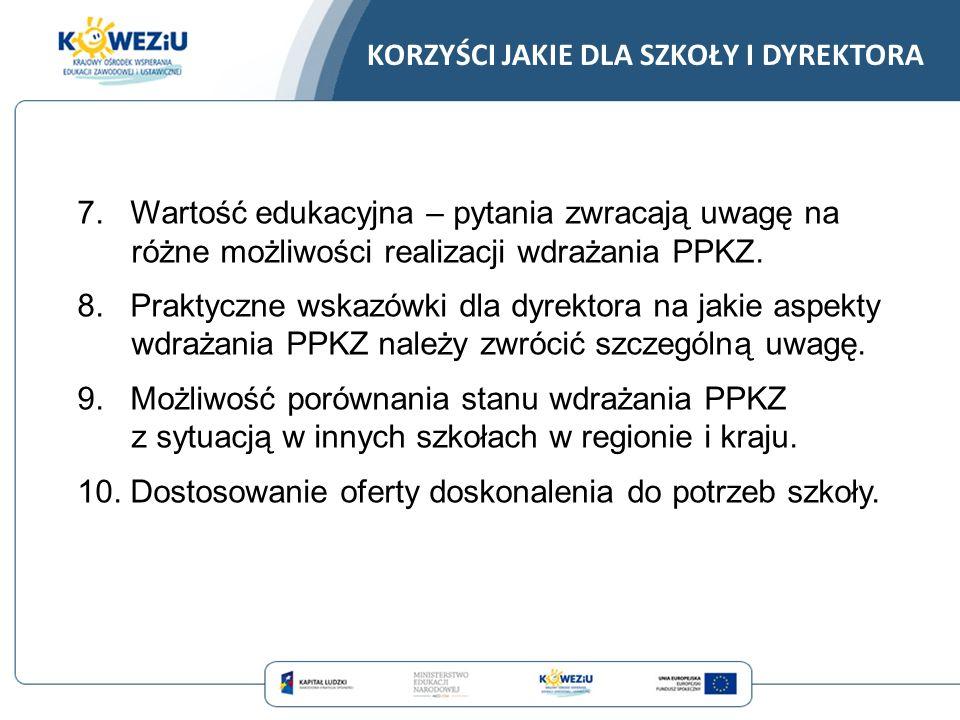 MONITOROWANIE I DOSKONALENIE PROCESU WDRAŻANIA PODSTAW PROGRAMOWYCH KSZTAŁCENIA W ZAWODACH Projekt współfinansowany ze środków Unii Europejskiej w ramach Europejskiego Funduszu Społecznego.