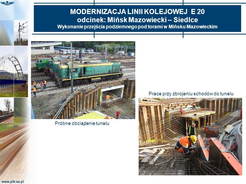 www.plk-sa.pl MODERNIZACJA LINII KOLEJOWEJ E 20 odcinek: Mińsk Mazowiecki – Siedlce Wykonanie przejścia podziemnego pod torami w Mińsku Mazowieckim Pr