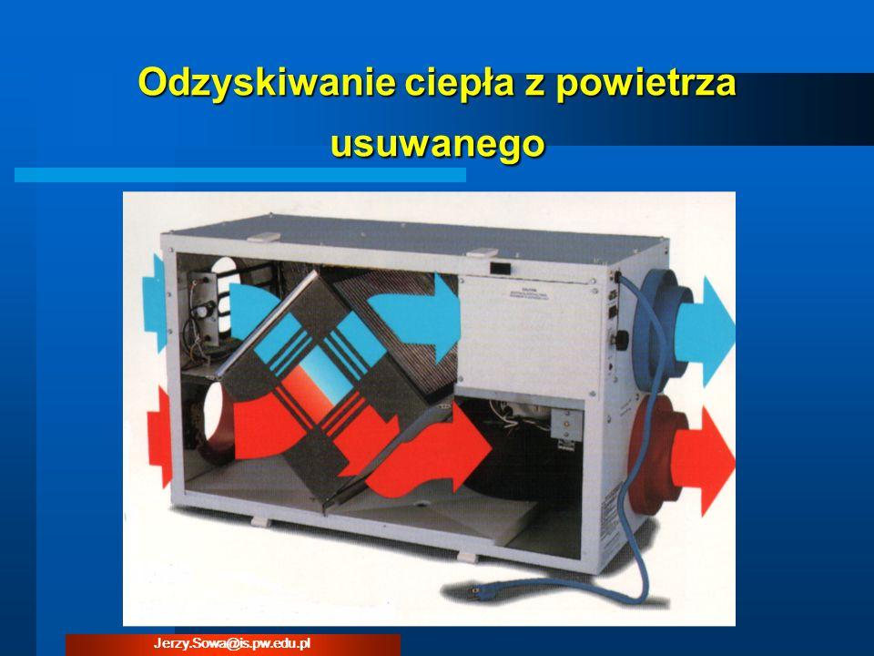 Odzyskiwanie ciepła z powietrza usuwanego Jerzy.Sowa@is.pw.edu.pl