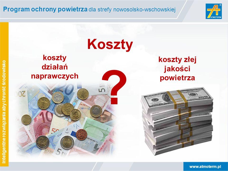 www.atmoterm.pl Inteligentne rozwiązania aby chronić środowisko Program ochrony powietrza dla strefy nowosolsko-wschowskiej ? Koszty koszty działań na