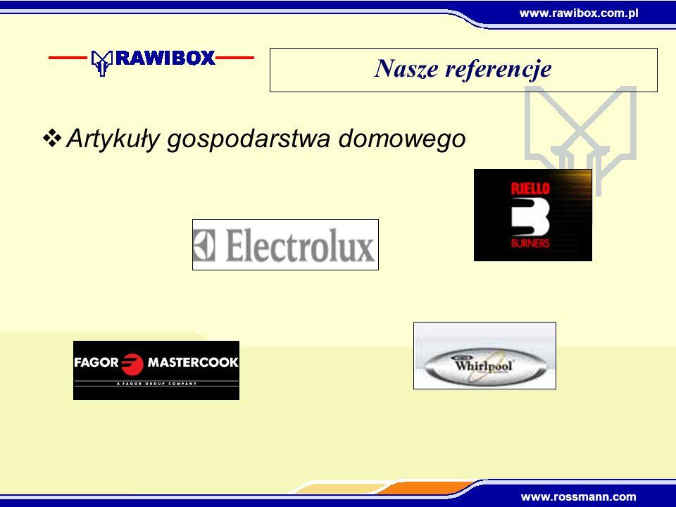 www.rawibox.com.pl www.rossmann.com Nasze referencje Artykuły gospodarstwa domowego