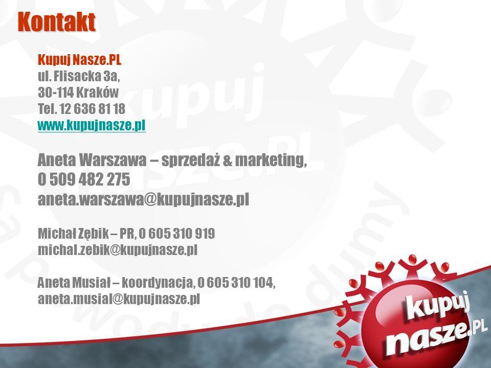 Kontakt Kupuj Nasze.PL ul. Flisacka 3a, 30-114 Kraków Tel.