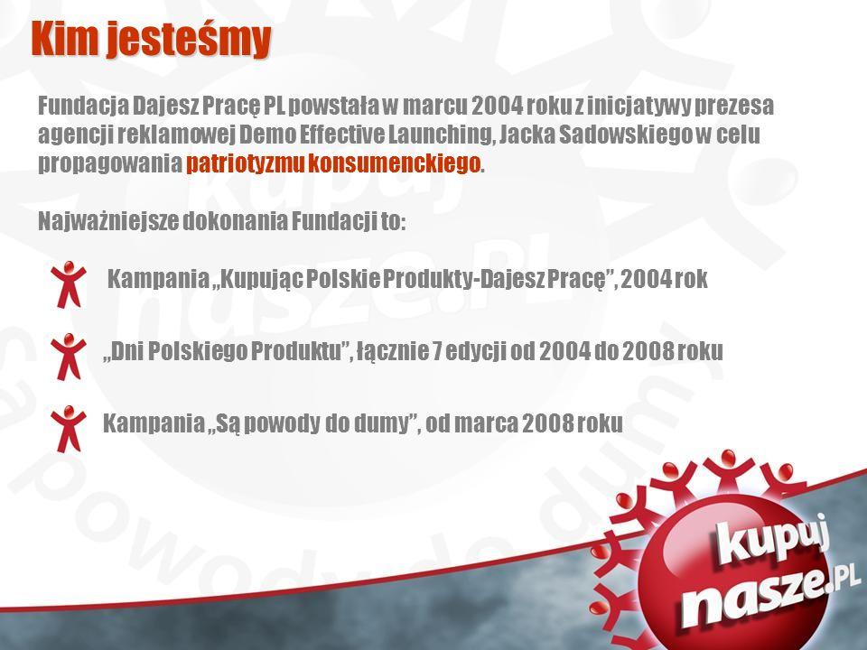 Fundacja Dajesz Pracę PL powstała w marcu 2004 roku z inicjatywy prezesa agencji reklamowej Demo Effective Launching, Jacka Sadowskiego w celu propagowania patriotyzmu konsumenckiego.