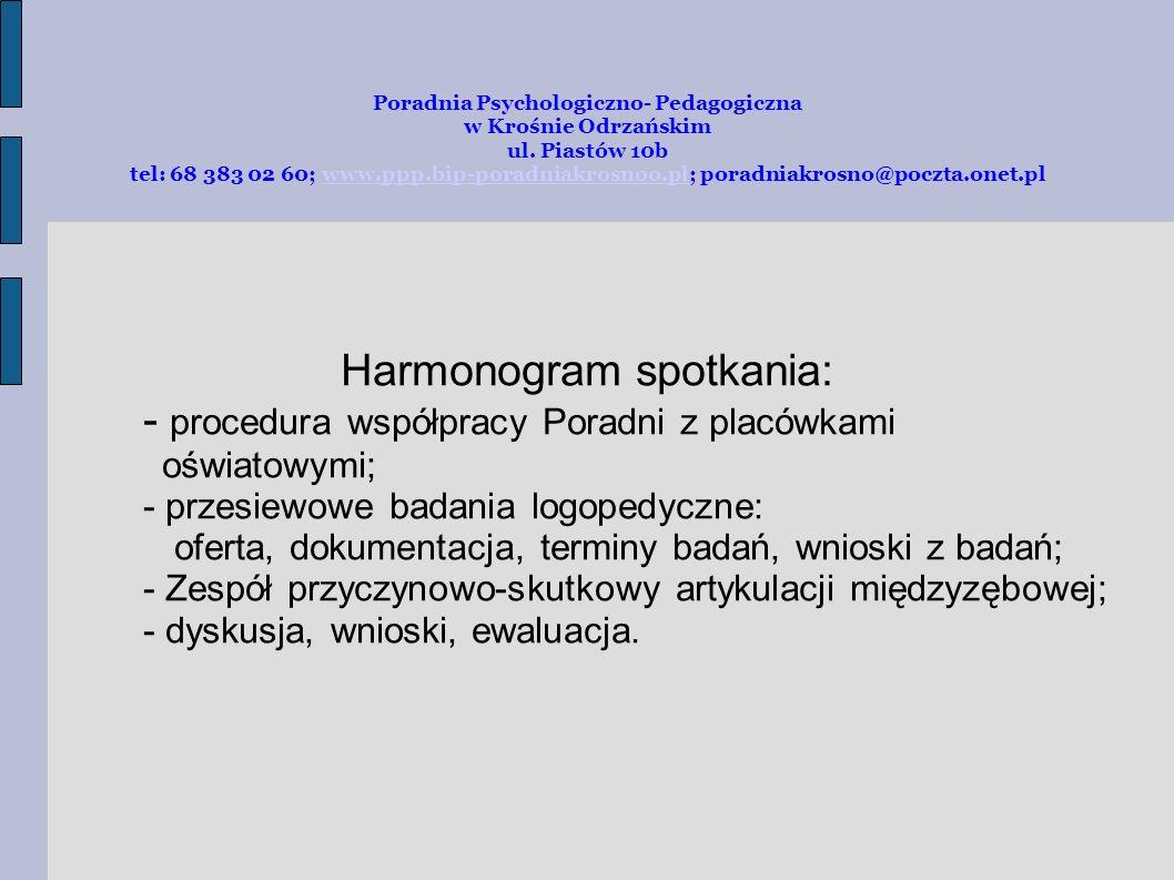 Poradnia Psychologiczno-Pedagogiczna w Krośnie Odrzańskim ul.