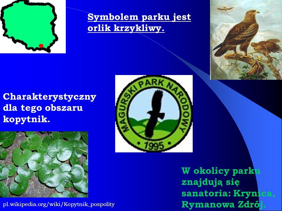 pl.wikipedia.org/wiki/Kopytnik_pospolity Charakterystyczny dla tego obszaru kopytnik. Symbolem parku jest orlik krzykliwy. W okolicy parku znajdują si