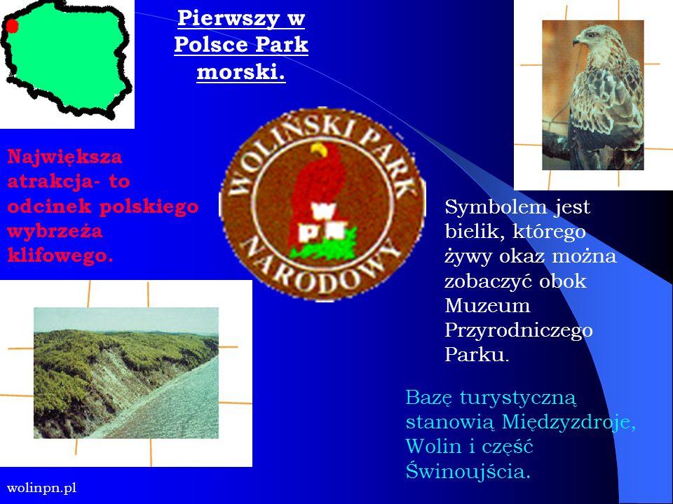 Pierwszy w Polsce Park morski. Symbolem jest bielik, którego żywy okaz można zobaczyć obok Muzeum Przyrodniczego Parku. Największa atrakcja- to odcine
