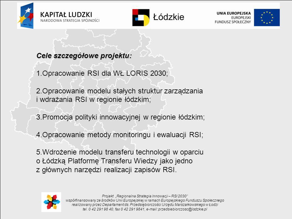 Projekt Regionalna Strategia Innowacji – RSI 2030 współfinansowany ze środków Unii Europejskiej w ramach Europejskiego Funduszu Społecznego realizowany przez Departament ds.