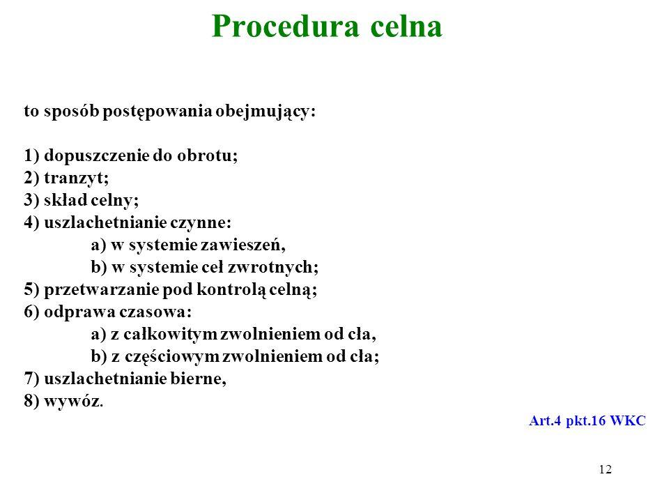 Rodzaje zgłoszenia celnego Pisemne (pełne i uproszczone); Elektroniczne; Ustne; Behavioralne (inne). Uproszczone zgłoszenie w formie pisemnej: 1.SAD (