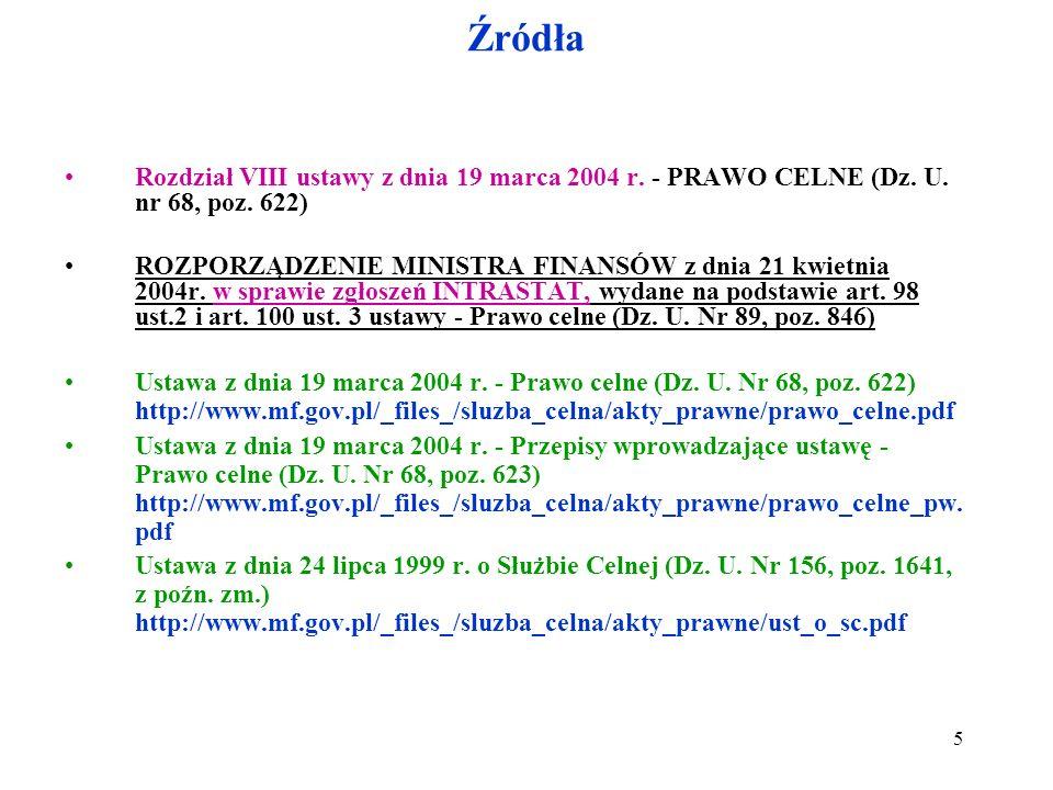 Rozporządzenie Ministra Finansów z dnia 22 kwietnia 2004 r.