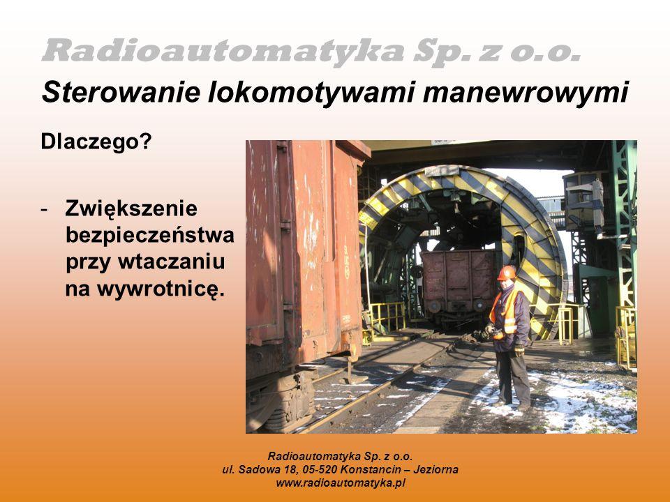 Radioautomatyka Sp.z o.o. ul. Sadowa 18, 05-520 Konstancin – Jeziorna www.radioautomatyka.pl Jak.