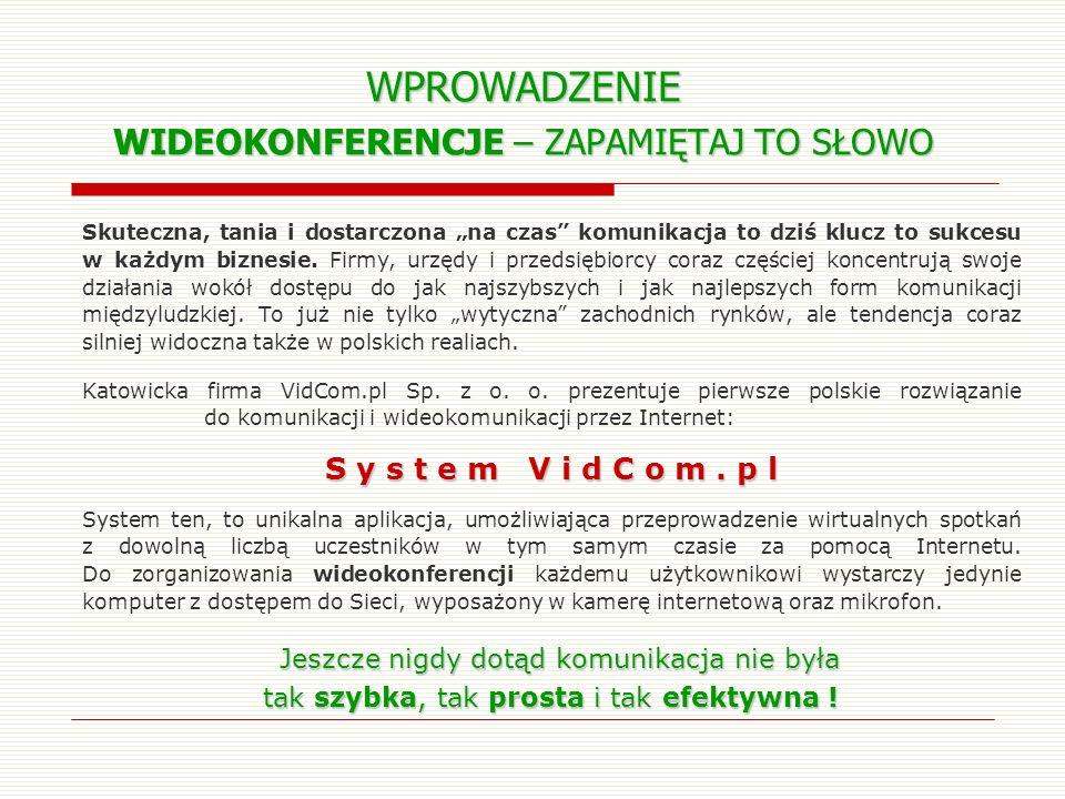 VidCom.pl dla: KONTAKTÓW Z DZIENNIKARZAMI Częste konferencje prasowe Częste konferencje prasowe – gdy tylko w Waszej Firmie zdarzy się coś ciekawego, podziel się tym z mediami.
