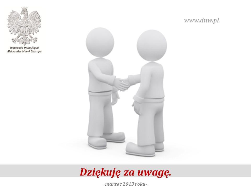 Dziękuję za uwagę. - marzec 2013 roku- www.duw.pl