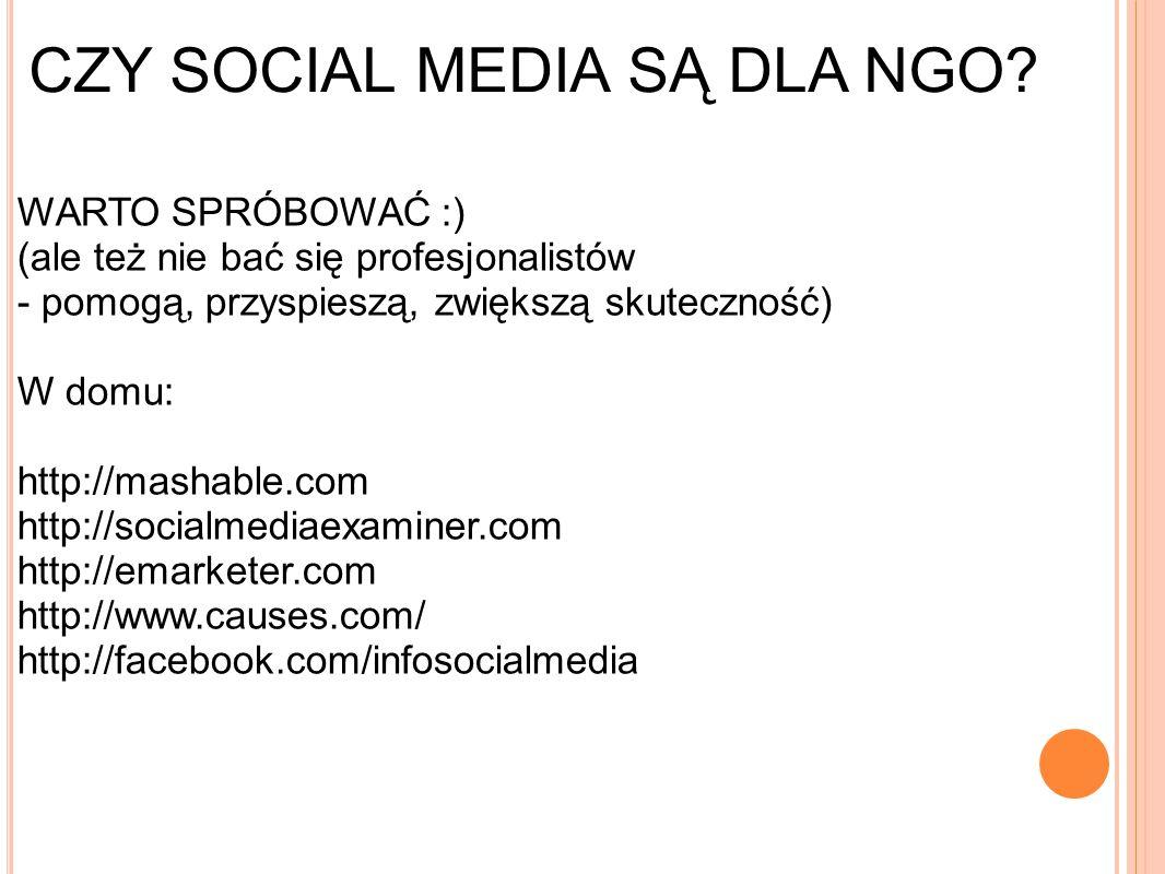 CZY SOCIAL MEDIA SĄ DLA NGO.