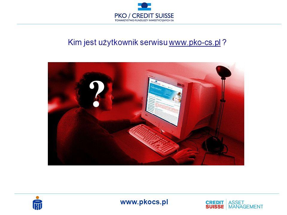 www.pkocs.pl Kim jest użytkownik serwisu www.pko-cs.pl ? ?