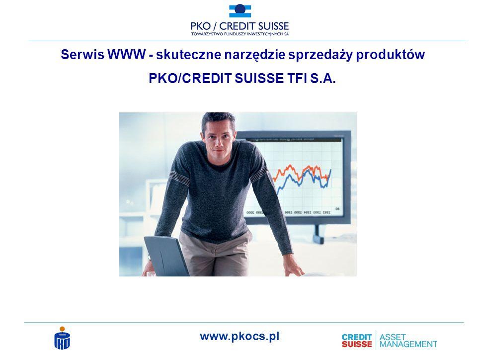 www.pkocs.pl Serwis WWW - skuteczne narzędzie sprzedaży produktów PKO/CREDIT SUISSE TFI S.A.