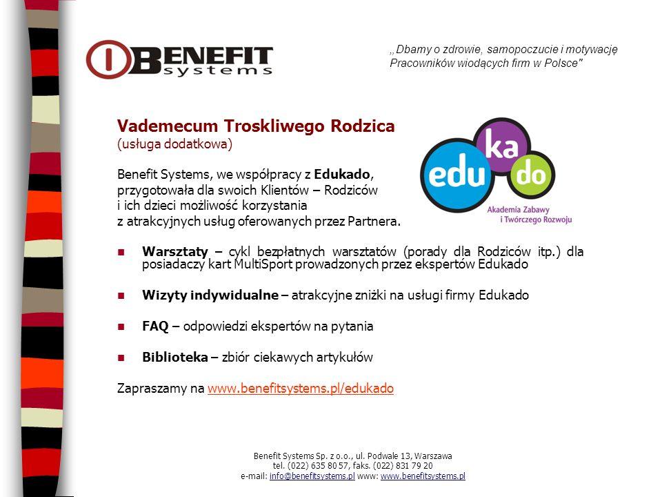 Dbamy o zdrowie, samopoczucie i motywację Pracowników wiodących firm w Polsce Mamy nadzieję, że przedstawiona oferta spotka się z Państwa zainteresowaniem.