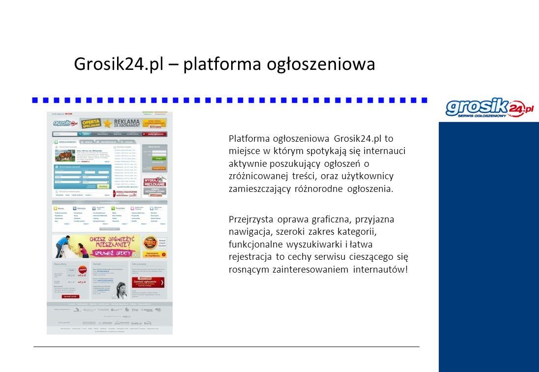 Grosik24.pl – platforma ogłoszeniowa Statystyki DziennikPolski24.pl Platforma ogłoszeniowa Grosik24.pl to miejsce w którym spotykają się internauci ak