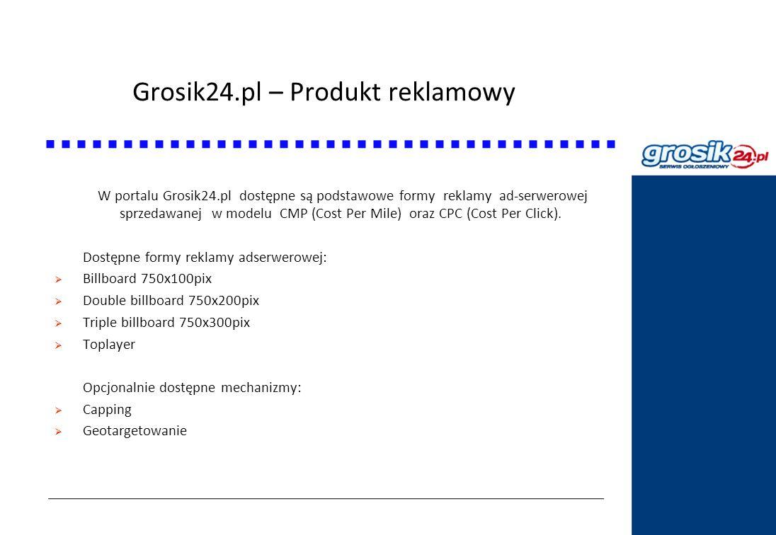 Grosik24.pl – Produkt reklamowy Statystyki DziennikPolski24.pl W portalu Grosik24.pl dostępne są podstawowe formy reklamy ad-serwerowej sprzedawanej w