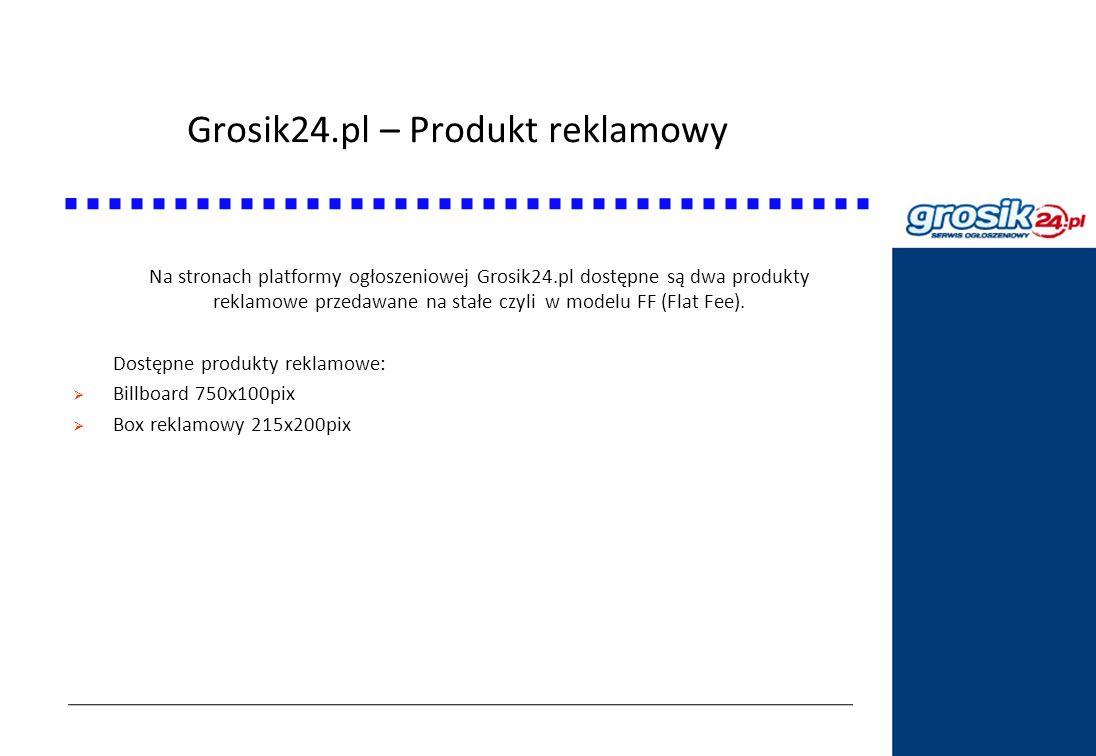 Grosik24.pl – Produkt reklamowy Statystyki DziennikPolski24.pl Na stronach platformy ogłoszeniowej Grosik24.pl dostępne są dwa produkty reklamowe prze